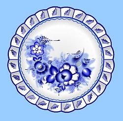 фото гжельская посуда